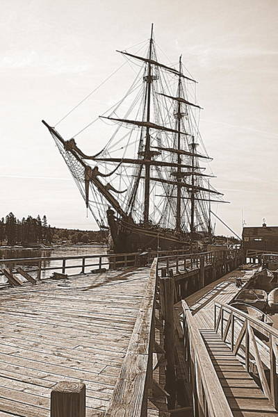Photograph - Hms Bounty At The Dock by Doug Mills