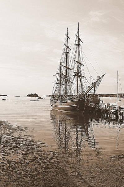 Photograph - Hms Bounty Preparing To Set Sail by Doug Mills