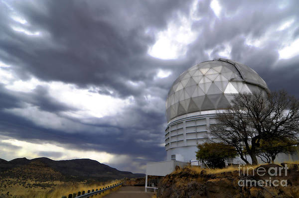 Photograph - Hobby-eberly Telescope Observatory Dome by Phillip Jones