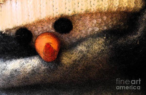 Photograph - Hobo Snowman Closeup II by Jani Freimann