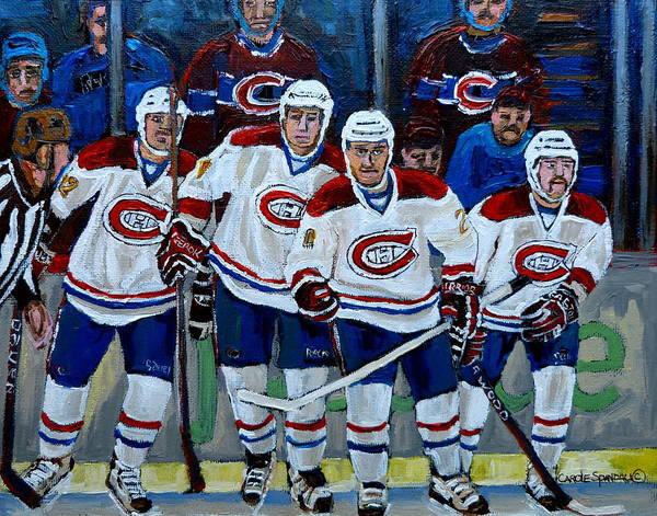 Painting - Hockey Art At Bell Center Montreal by Carole Spandau