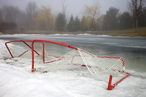 Wall Art - Photograph - Hockey Net On Frozen Pond by Perry McKenna Photography