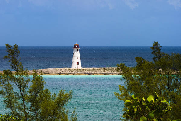 Photograph - Hog Island Lighthouse At Nassau by Ed Gleichman