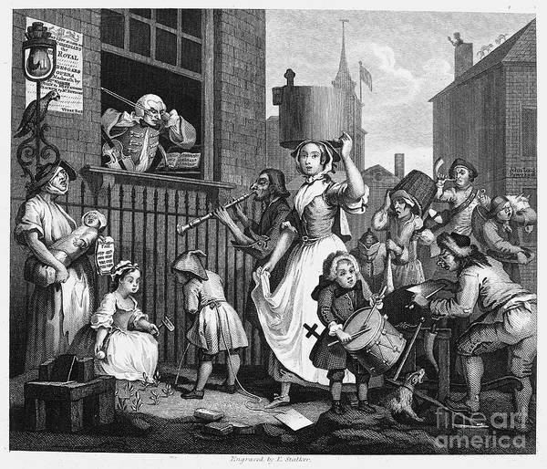 1741 Photograph - Hogarth: Musician, 1741 by Granger