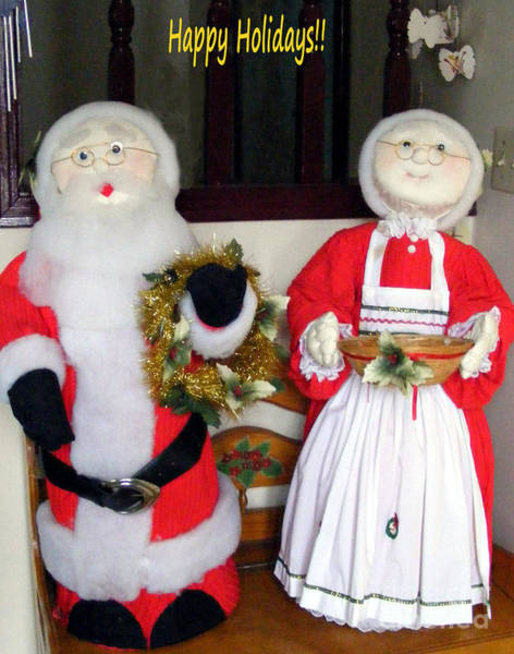 Greeters Photograph - Holiday Greeters by Barbara Griffin