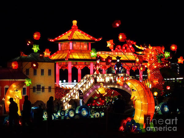 Photograph - Holiday Lights 9 by Xueling Zou