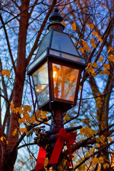 Photograph - Holiday Streetlamp by Joann Vitali