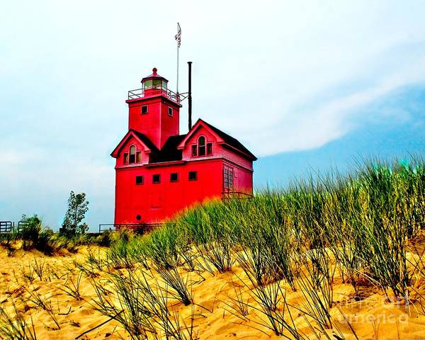 Holland Mi Wall Art - Photograph - Holland Harbor Lighthouse by Nick Zelinsky
