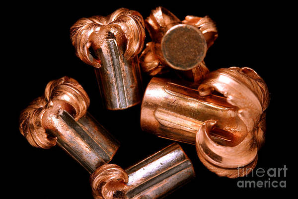 Wall Art - Photograph - Hollow Point Bullets by Ted Kinsman