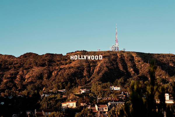 Hollywood Sign At Sunset Art Print