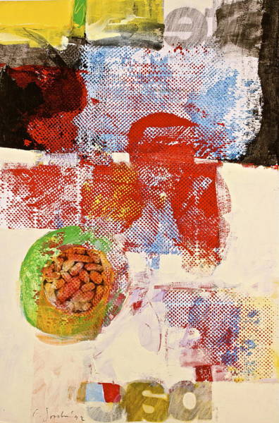 Painting - Holy Bread Bag  Whats That  by Cliff Spohn
