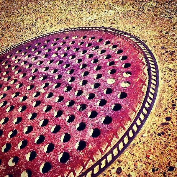 Wall Art - Photograph - Holy Man Hole Cover by Christopher Campbell