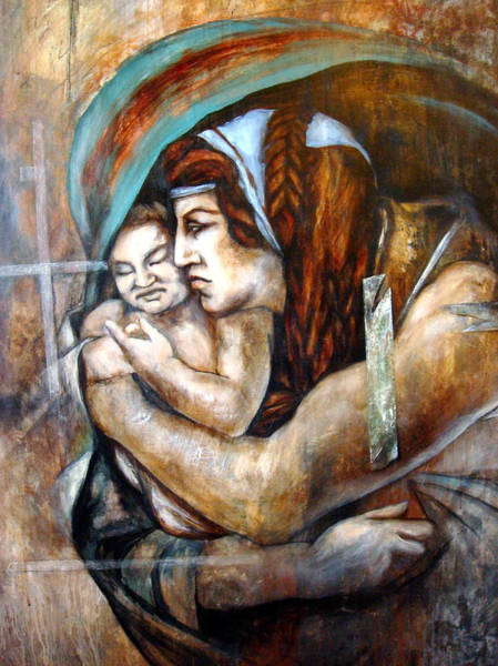 Wall Art - Drawing - Homage To Michaelangelo by Leyla Munteanu