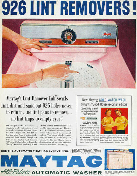 Photograph - Home Appliance Ad, 1957 by Granger
