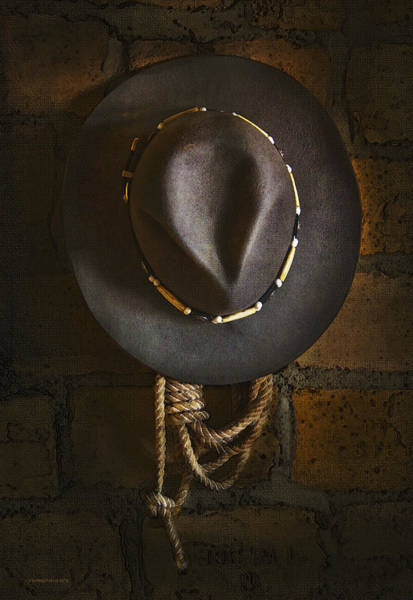 Cowboy Hat Photograph - Home From The Range by Ron Jones