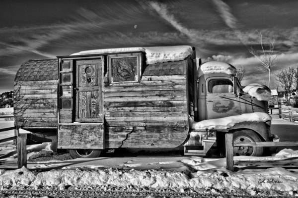 Photograph - Home On Wheels - Bw by Christopher Holmes