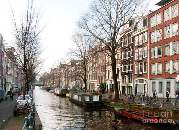 Wall Art - Digital Art - Homes Along The Canal In Amsterdam by Carol Ailles