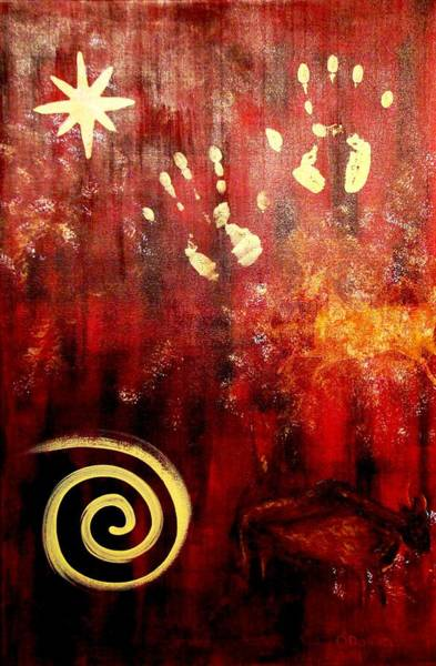 Clovis Painting - Homo Sapien by Stephen P ODonnell Sr