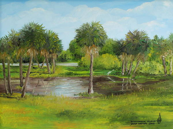 Gulf State Park Painting - Honeymoon Island by Larry Whitler