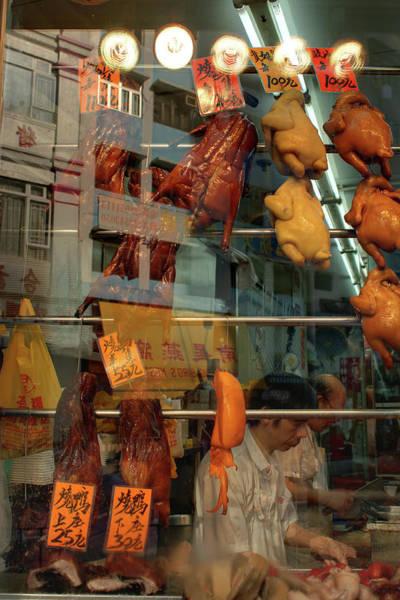 Duck Meat Photograph - Hong Kong Meat Market by Greg Larson