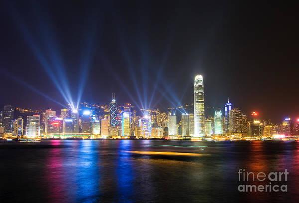Hongkong Photograph - Hongkong At Night by Konstantin Kalishko