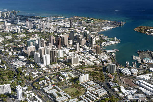 Wall Art - Photograph - Honolulu Aerial II by Peter French