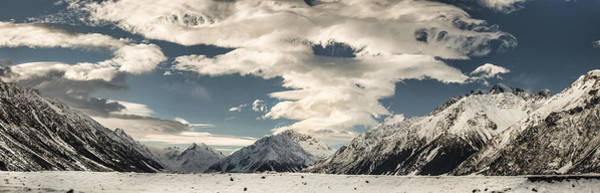 Wind River Range Wall Art - Photograph - Hooker River In The Valley At Tasman by Colin Monteath