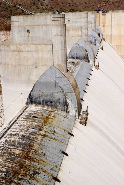 Diverted Wall Art - Photograph - Hoover Dam Spillway by Mark Williamson