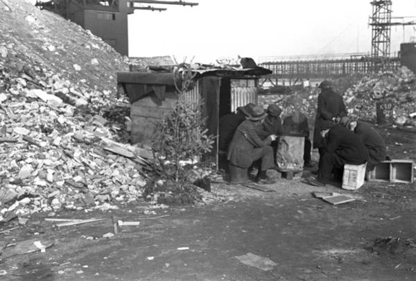 Business Cycles Wall Art - Photograph - Hooverville At East 12th Street, New by Everett