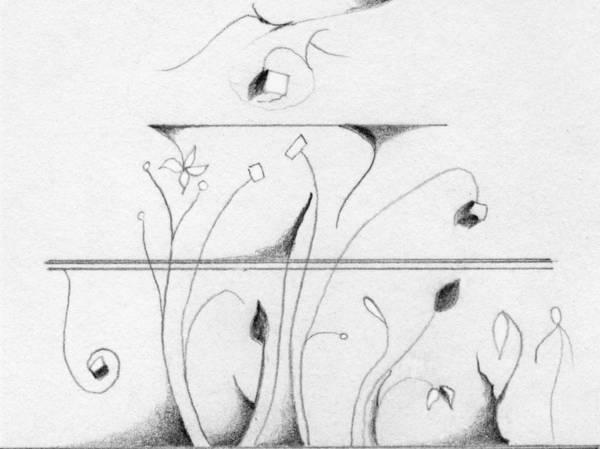 Drawing - Horizontal Nature by James Lanigan Thompson MFA