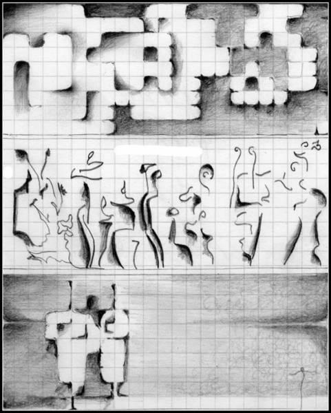 Drawing - 66 by James Lanigan Thompson MFA