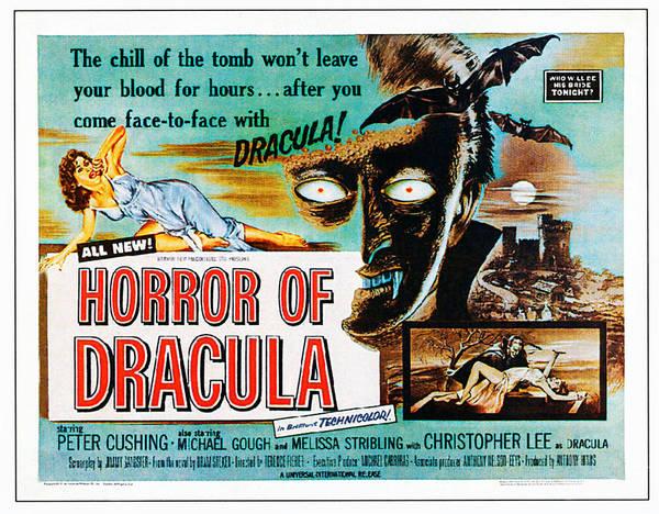 1958 Movies Photograph - Horror Of Dracula, Poster Art, 1958 by Everett