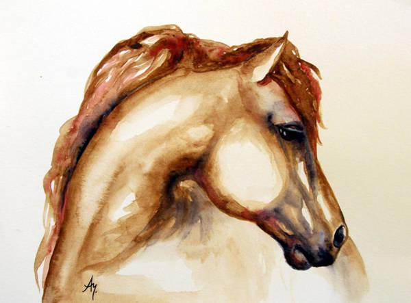 Wall Art - Painting - Horse Head 3 by Leyla Munteanu