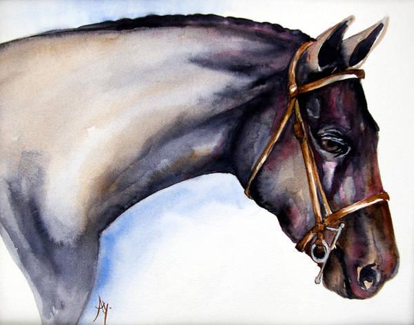 Wall Art - Painting - Horse Head 5 by Leyla Munteanu