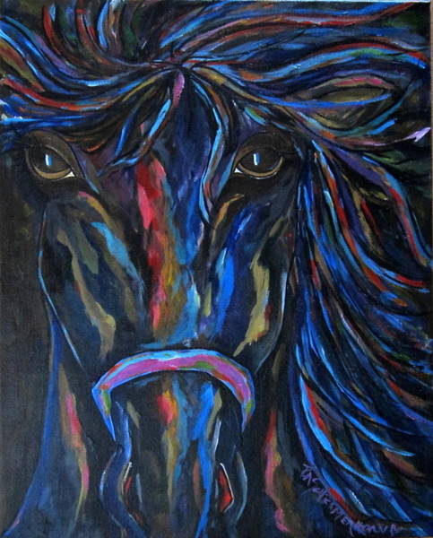 Painting - Horse In Contrast by Patti Schermerhorn