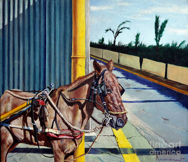 Painting - Horse In Malate by Christopher Shellhammer