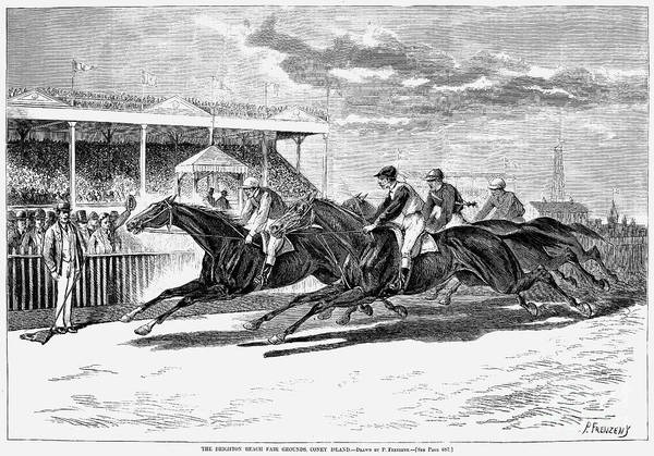 Fair Ground Photograph - Horse Racing, 1879 by Granger
