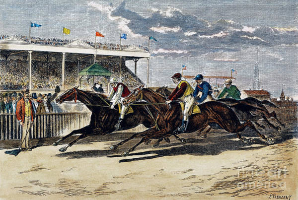 Fair Ground Photograph - Horse Racing, Ny, 1879 by Granger