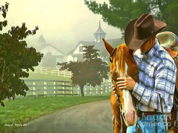 Mixed Media - Horse Whisperer by Jerry L Barrett