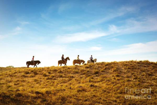 Outing Photograph - Horseback Riding by Carlos Caetano