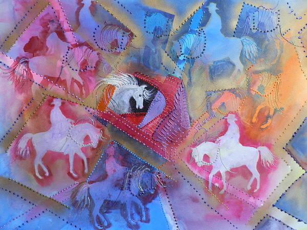 Elwood Blues Painting - Horses by Jann Elwood
