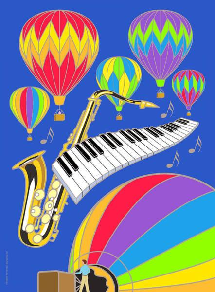 Balloon Festival Digital Art - Hot Air Balloon Festival by Erasmo Hernandez