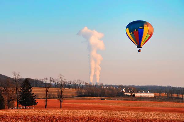 Photograph - Hot Air Balloon Near Limerick Pa by Bill Cannon