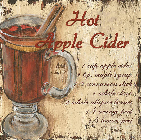 Apple Painting - Hot Apple Cider by Debbie DeWitt