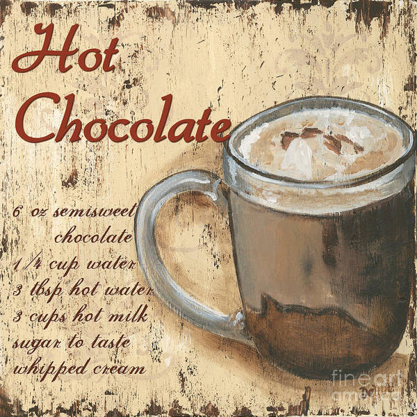 Milk Painting - Hot Chocolate by Debbie DeWitt