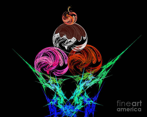 Digital Art - Hot Fudge Sundae by Andee Design