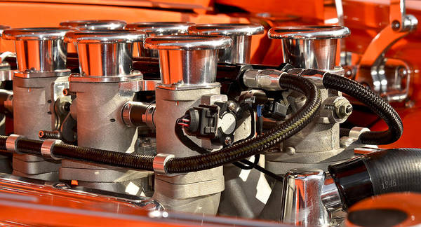 Photograph - Hot Rod Headers by Carolyn Marshall