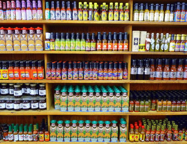 Photograph - Hot Sauces by Jeff Lowe