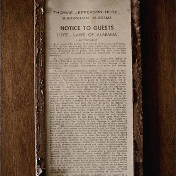 Politicians Wall Art - Photograph - Hotel Law by Thomas Jefferson Tower