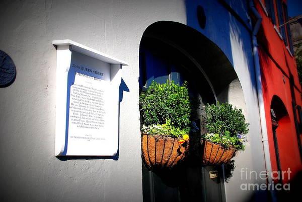 Photograph - House Door 8 In Charleston Sc  by Susanne Van Hulst